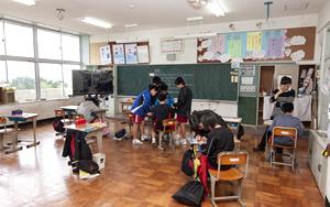 Sixth grader classroom