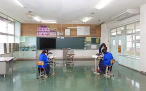 Junior high school second grader classroom