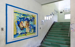 1F scenery, stairs